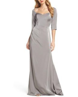Sweetheart Satin Gown