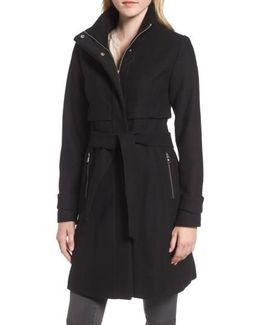 Flange Belted Coat
