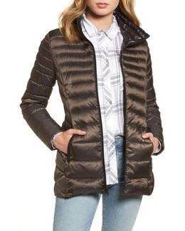 Packable Down Jacket, Grey