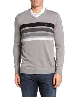 Lemkey Striped V-neck Sweater