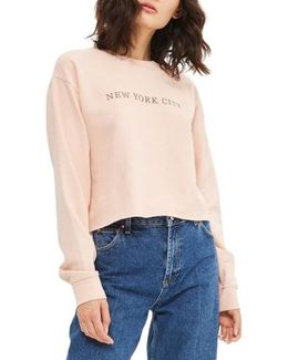 New York City Embroidered Sweatshirt