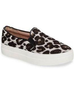 Tucker Leopard Print Slip-on Sneaker