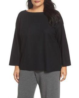 Boiled Wool Jersey Sweater