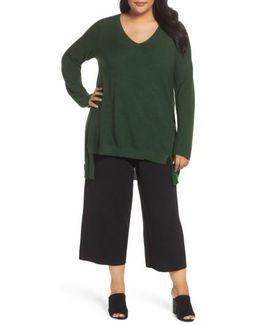 High/low Merino Wool Sweater