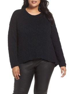 Round Neck Organic Cotton Crop Sweater