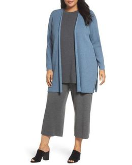 Long Ribbed Wool Cardigan