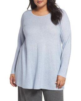 Jewel Neck Tunic Sweater