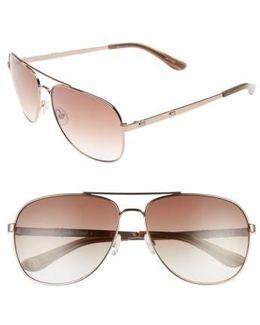 Shades Of 59mm Aviator Sunglasses