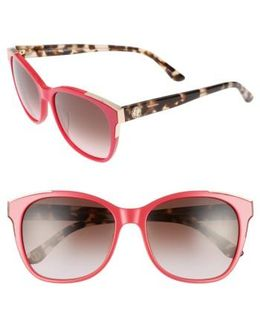 Shades Of 56mm Cat Eye Sunglasses - Coral