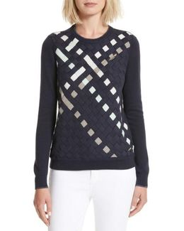 Yessica Lattice Front Sweater
