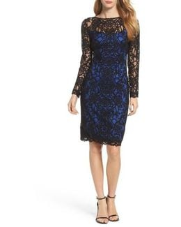 Lace Embroidered Sheath Dress