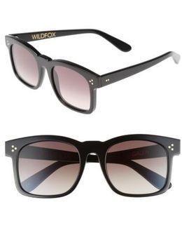 Gaudy Zero 51mm Flat Square Sunglasses