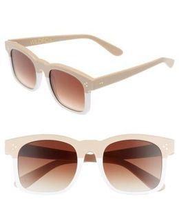 Gaudy Zero 51mm Flat Square Sunglasses - Cream-white