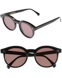 Harper Zero 53mm Round Keyhole Sunglasses
