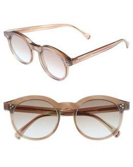 Harper Zero 53mm Round Keyhole Sunglasses - Galactic