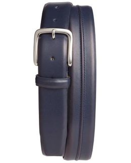 Pinched Seam Leather Belt