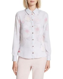 Relar Chelsea Grey Flower Print Shirt