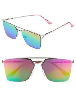 56mm Flat Top Sunglasses