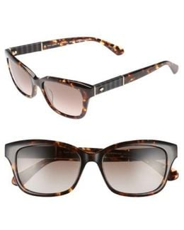 Johanna 2 53mm Gradient Sunglasses - Dark Havana