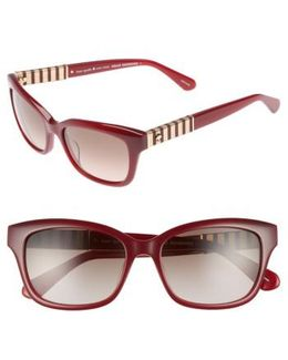 Johanna 2 53mm Gradient Sunglasses - Opal Burgundy
