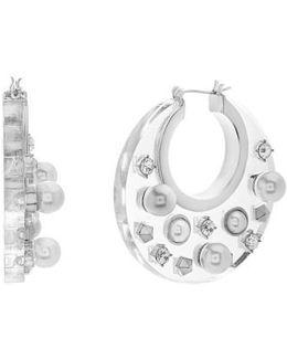 Jewel Hoop Earrings