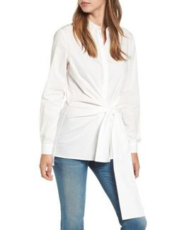 Tie Front Tunic Shirt