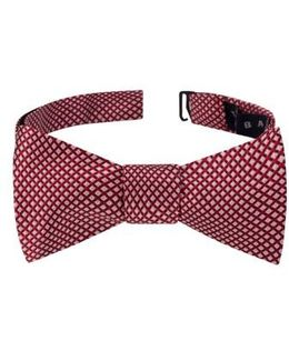Ravishing Check Silk Bow Tie
