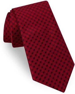 Fancy Geometric Silk Tie