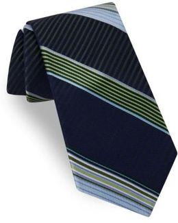 Aventura Stripe Silk Tie
