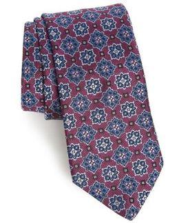 Starburst Medallion Silk Tie