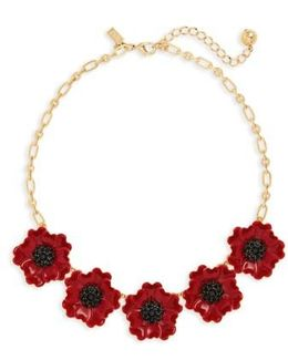 Precious Poppies Frontal Necklace