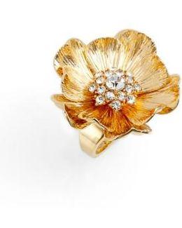 Precious Poppies Crystal Ring
