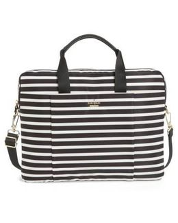 Stripe Nylon Commuter Bag