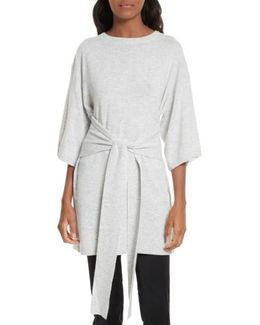 Olympy Tie Front Knit Tunic