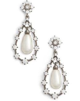 Simulated Pearl Drop Earirngs