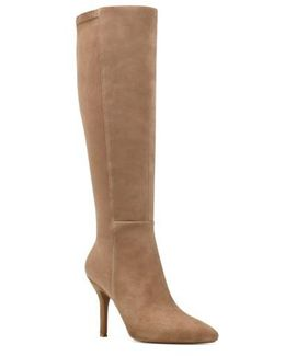 Fallon Pointy Toe Knee High Boot