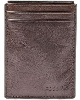 Neel Magnetic Leather Money Clip Card Case