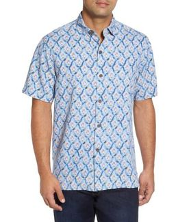 Alcazar Tiles Silk Camp Shirt