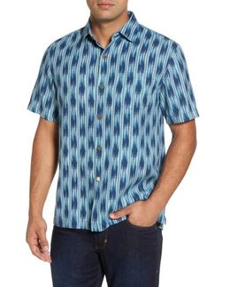 Ikat On A Hot Tin Roof Silk Blend Camp Shirt