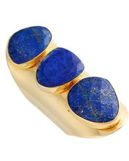 Anas 3 Stone Lapis Ring
