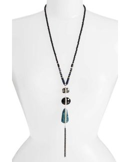 3-stone Drop Pendant Necklace