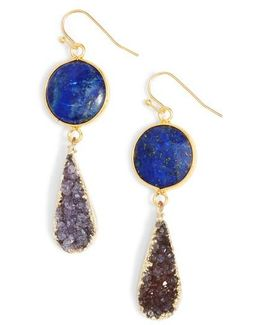Drusy Drop Earrings