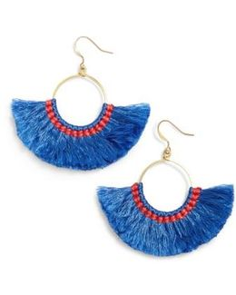 Cotton Fan Earrings