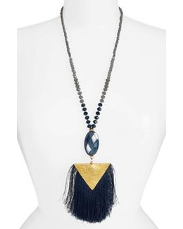 Fan Tassel Pendant Necklace