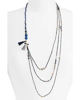 Konia Multistrand Tassel Necklace