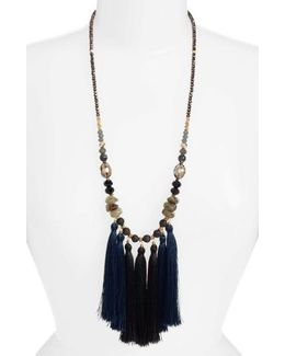 Long Multi Tassel Necklace
