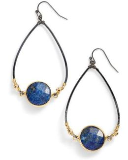 Bezan Faceted Lapis Teardrop Earrings