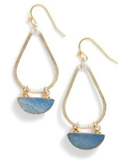 Bahar Lapis Teardrop Earrings