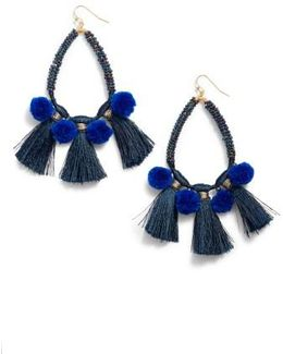 Babak Teardrop Tassel Earrings
