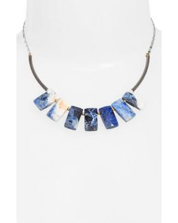Cirrus Lapis Pendant Necklace